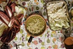 Bagna cauda. Italian dish of Piedmontese cuisine Royalty Free Stock Photography