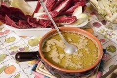Bagna cauda Włoski naczynie Piedmontese kuchnia Obraz Stock