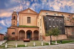 Bagnacavallo Ravenna, Emilia-Romagna, Italien: den forntida kyrkan royaltyfria bilder