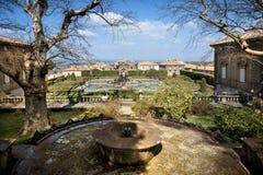 Bagnaia: A casa de campo Lante em Bagnaia é um jardim do Mannerist da surpresa, perto de Viterbo, Itália fotos de stock royalty free