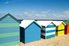 Bagnando le caselle su Brighton tirano - Melbourne - Aust in secco immagini stock