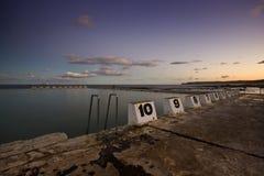 Bagni dell'oceano di Merwether al crepuscolo Fotografia Stock