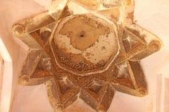 Bagni della regina in Hampi, stato del Karnataka, India Scultura del anci di pietra Fotografie Stock Libere da Diritti