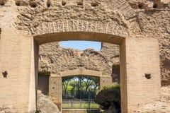 Bagni di Caracalla, rovine antiche dei thermae pubblici romani fotografie stock