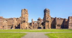 Bagni di Caracalla, rovine antiche dei thermae pubblici romani fotografia stock