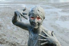 Bagni di fango in Colombia fotografia stock