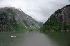 Bagni le montagne e la valle glaciali in Tracy Arm Fjord, Alaska Fotografia Stock