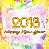 Bagni per bagnare l'illustrazione 2018/dell'acquerello Fotografia Stock