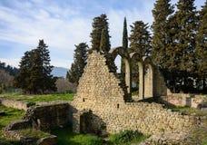 Bagni romani nella città di Fiesole tuscany L'Italia fotografie stock