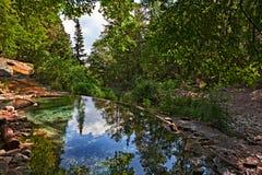 Bagni SAN Filippo, Σιένα, Τοσκάνη, Ιταλία: φυσική θερμική λίμνη ι στοκ φωτογραφίες