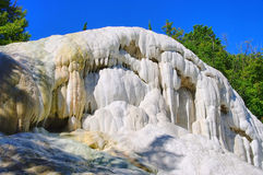 Bagni San Filippo Fosso Bianco. Fosso Bianco, the white rock in Tuscany Stock Images