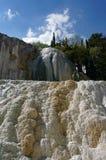 Bagni San Filippo Hot Springs, Tuscany, Italien royaltyfria foton