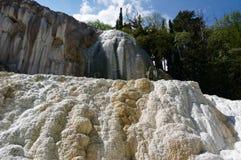 Bagni San Filippo Hot Springs, Tuscany, Italien royaltyfri fotografi