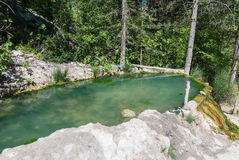 Bagni San Filippo, Toscana Molla naturale termica Fotografia Stock Libera da Diritti