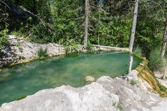 Bagni San Filippo, Tuscany Termisk naturlig vår royaltyfri fotografi