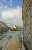 Bagni sull'isola di Gorda del Virgin Fotografia Stock