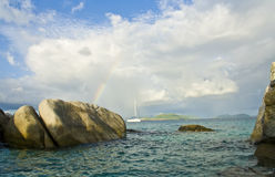 Bagni sull'isola di Gorda del Virgin Immagini Stock Libere da Diritti