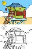 Bagnino alla spiaggia Fotografie Stock