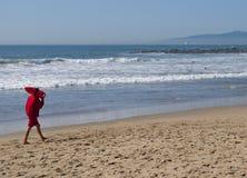 Bagnino alla spiaggia California di Venezia Fotografia Stock Libera da Diritti