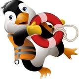 Bagnino del pinguino Immagini Stock