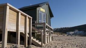 Bagnino Hut, Mawgan Porth Cornovaglia Regno Unito Fotografia Stock Libera da Diritti