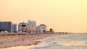 Bagnino Tower in spiaggia del sud, Miami Beach, Florida Immagini Stock Libere da Diritti