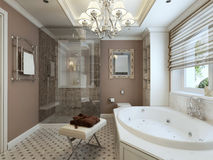 Bagno Art Deco Fotografia Stock