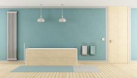 Bagno blu minimalista royalty illustrazione gratis