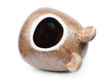 Bagno ceramico del critter immagine stock