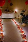 Bagno da lume di candela Fotografie Stock
