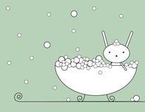 Bagno del coniglietto royalty illustrazione gratis