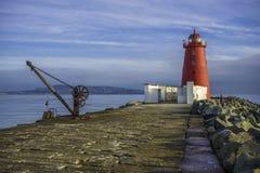 Bagno del faro di Poolbeg, Dublino Fotografia Stock