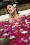 Bagno del petalo Fotografia Stock