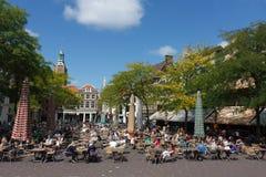 Bagno del sole di tempo del pranzo di Haag della tana Immagini Stock