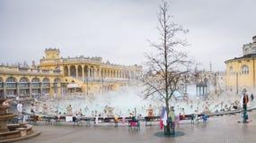 Bagno del termale di Szechenyi Fotografia Stock
