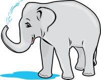 Bagno dell'elefante illustrazione vettoriale