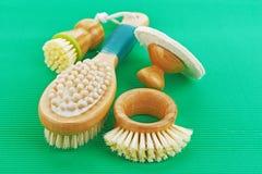 Bagno della spazzola Fotografia Stock