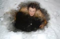 Bagno di ghiaccio Fotografia Stock