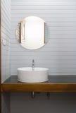 Bagno di legno grigio Fotografie Stock Libere da Diritti
