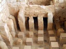 Bagno di re Herod Palace, Masada nel deserto di Judean, Israele Fotografia Stock