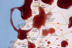 Bagno di sangue in Siria Immagine Stock Libera da Diritti