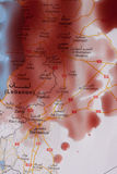 Bagno di sangue in Siria Fotografia Stock Libera da Diritti