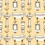 Bagno di schizzo ed attrezzatura della toilette illustrazione vettoriale