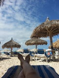 Bagno di Sun sull'isola dei Caraibi Fotografia Stock
