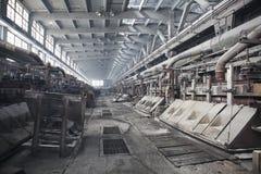 Bagno elettrolitico per la produzione di alluminio Fotografia Stock Libera da Diritti