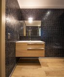 Bagno lussuoso in appartamento moderno Fotografia Stock Libera da Diritti