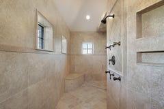 Bagno matrice nella casa della nuova costruzione Fotografia Stock