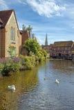 Bagno medievale della città, Somerset, Inghilterra fotografie stock libere da diritti