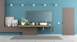 Bagno moderno bianco e blu piastrelle di ceramica bene l export