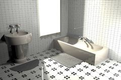 Bagno, rappresentazione 3d fotografia stock